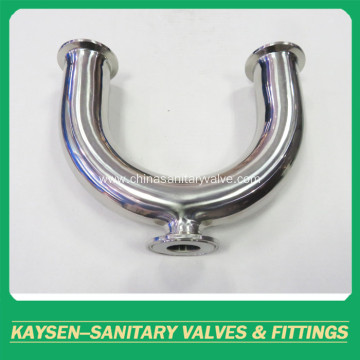 Sanitary U Type 180 Deg Clamp Elbow